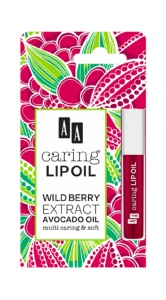 Caring Lip Oil Wild Berry Extract Avocado Oil upiększający olejek do ust 6ml